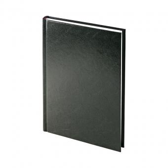 Ежедневник недатированный Ideal New, А5, черный, белый блок, без обреза