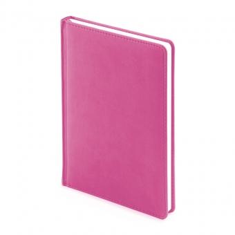 Ежедневник недатированный Velvet, А5, розовый , белый блок, без обреза