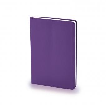 Ежедневник недатированный Stockholm, А5, фиолетовый, белый блок, без обреза