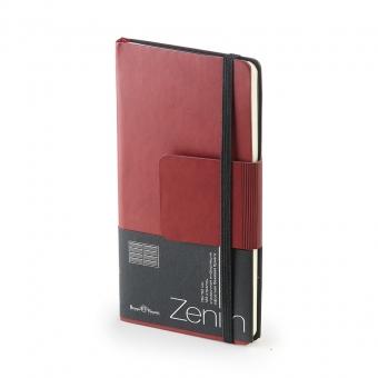 Еженедельник недатированный Zenith, B7, бордовый, бежевый блок, без обреза, ляссе