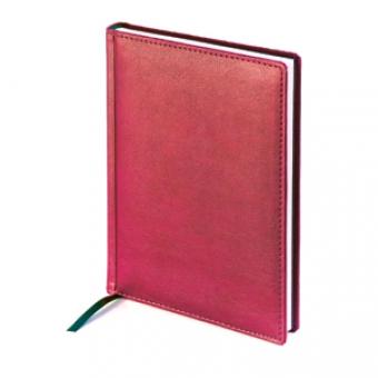 Ежедневник недатированный Leader, А5, красный, белый блок, без обреза