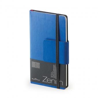 Еженедельник недатированный Zenith, B7, темно-синий, бежевый блок, без обреза, ляссе