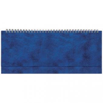 Планинг недатированный, Бумвинил, синий, 295х100 мм, белый блок, открытый гребень