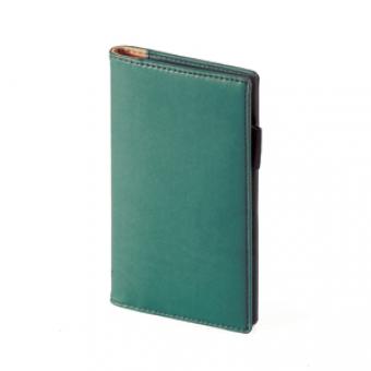 Еженедельник недатированный Concept, А6, зеленый, бежевый блок, без обреза, телефонная книга