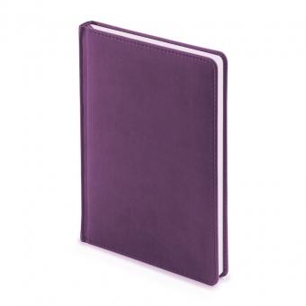 Ежедневник недатированный Velvet, А5, фиолетовый , белый блок, без обреза