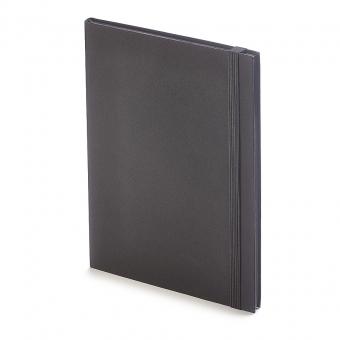Еженедельник  недатированный Tango, B5, черный, бежевый блок, черный обрез, ляссе