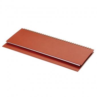 Планинг датированный Ideal New, коричневый, 305х130 мм, белый блок, открытый гребень