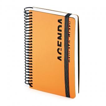 Ежедневник недатированный Agenda, В6, оранжевый, белый блок, без обреза, без ляссе