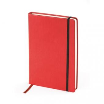 Ежедневник недатированный Megapolis Velvet, А5, красный, бежевый блок, без обреза, ляссе
