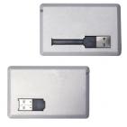 """USB flash-карта """"Кредитка"""" (2Gb); серебристый; 8,6х5,4х0,5 см; пластик; тампопечать"""