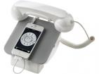 Зарядная станция для мобильного телефона. Позволяет получать и делать звонки, используя телефонную трубку. Микро и мини-USB кабели в комплекте