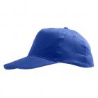 "Бейсболка ""Sunny"" 5 клиньев, ярко-синий, 100% хлопок, 180г/м2"
