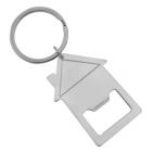 """Брелок-открывалка """"Дом""""; 3,3х5,4х0,3 см; металл; лазерная гравировка"""