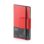 Еженедельник недатированный Zenith, B7, красный, бежевый блок, без обреза, ляссе