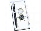 Набор «Штурвал»: шариковая ручка, брелок-компас с шильдом
