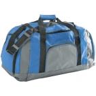Сумка дорожная; серый с голубым; 60х34х28 см; полиэстер; шелкография