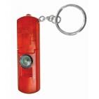 Брелок-фонарик со свистком и компасом; красный; 6,3х2,1х0,8 см; пластик; тампопечать