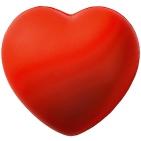 """Антистресс """"Сердце""""; красный; 7,6х7х5,4 см; вспененный каучук; тампопечать"""