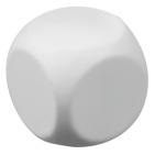 """Антистресс """"Куб-приниматель решений""""; белый; 6х6х6 см; вспененный каучук; тампопечать"""