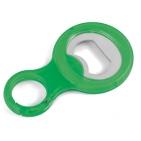 Открывалка для бутылок с карабином; зеленый; 9х5,3х1 см; пластик, металл; тампопечать