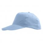 "Бейсболка ""Sunny"" 5 клиньев, голубой, 100% хлопок, 180г/м2"