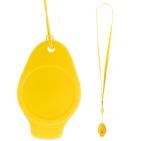 Свисток,желтый,3,5х5,5см,пластик