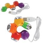 """USB-разветвитель """"Трансформер""""; D=8 см; H=1,9 см; пластик; тампопечать"""