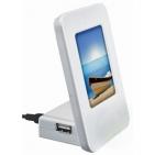 USB-разветвитель с фоторамкой и мигающей подсветкой (длина провода 93см); 8,2х5,7х11,3 см; пластик;