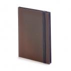 Еженедельник недатированный Tango, B6, коричневый, бежевый блок, черный обрез, ляссе