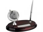 Настольный прибор «Династия»: глобус, подставка под ручку, ручка