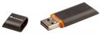 Флешка Uniscend Slalom, черная с оранжевым, 8 Гб