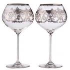Набор из двух бокалов Luxury с серебряной окантовкой