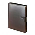 Папка с кольцевым зажимом и застежкой Bosforo, коричневый, 260х315 мм