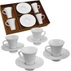 """Кофейный набор """"Espresso"""": на 4 персоны; 32,5х21х7см, 80 мл; фарфор; деколь"""