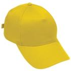 """Бейсболка """"Стандарт"""", 5 клиньев, металлическая застежка; желтый; 100% хлопок; плотность 180 г/м2"""