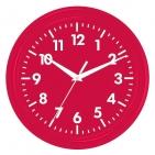 """Часы настенные """"PRINT"""" разборные, красный, D24,5 см; пластик/стекло"""