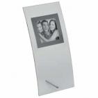 Фоторамка 12х26 см для фото 7,5х7,5 см; стекло, металл; лазерная гравировка