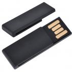 "USB flash-карта ""Clip"" (8Гб),черная,3,8х1,2х0,5см,пластик"