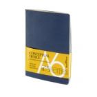 Блокнот Conceptual office, синий, A6, бежевый блок, без обреза, клетка, 32 листа