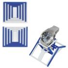"""Антистресс-трансформер """"Mister Twister"""",синий с белым,7,8х6,5х0,6см,пластик"""