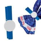 Зажим для сыпучих продуктов, синий с белым, 7,5х1,4х1см,дерево