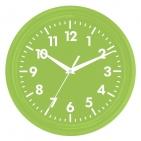 """Часы настенные """"PRINT"""" разборные ;  зеленый, D24,5 см; пластик/стекло"""