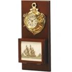 """Часы """"Якорь"""" с ящиком для ключей; 40х19,5х6,5 см; металл, дерево; шильд"""