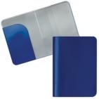 """Обложка для паспорта """"HAPPY TRAVEL"""", синий, ПВХ, 10*14 см, тампопечать, шелкография"""