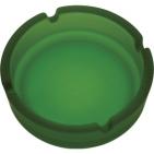 Пепельница матовая, зеленая, стекло, D=10,8 см
