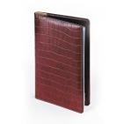Визитница  Croco, коричневый, 125х203 мм, на 84 визитки, сменный блок
