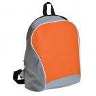 "Промо-рюкзак ""Fun""; серый с оранжевым; 30х38х14 см; полиэстер; шелкография"