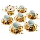 Набор для кофе «Император» золотой