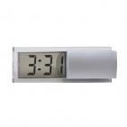 """Часы электронные """"Minimum"""",  серебристые, 10*3*3 см, пластик"""