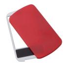 """Зеркало с пилкой для ногтей """"Визаж""""; красный; 9,4х5,4х0,8 см; пластик; тампопечать"""